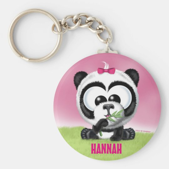 Cute Panda Personalised Keychain