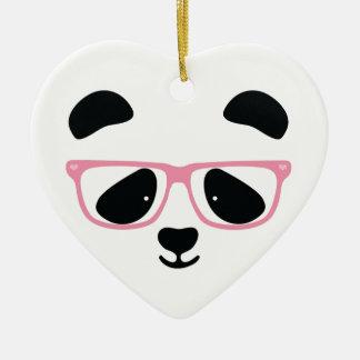 Cute Panda Pink Ceramic Heart Decoration