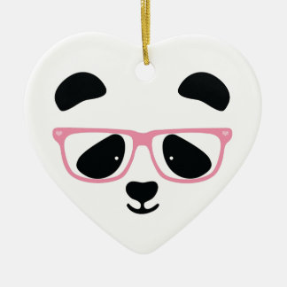 Cute Panda Pink Christmas Ornament