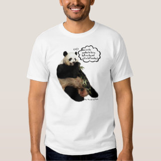 Cute Panda pondering deep thoughts on the weather Tshirt