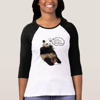 Cute Panda pondering deep thoughts on the weather Tshirts