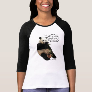 Cute Panda pondering deep thoughts on weight Tee Shirt