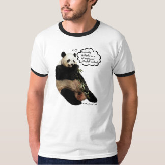 Cute Panda pondering funny thoughts on weather T Shirt