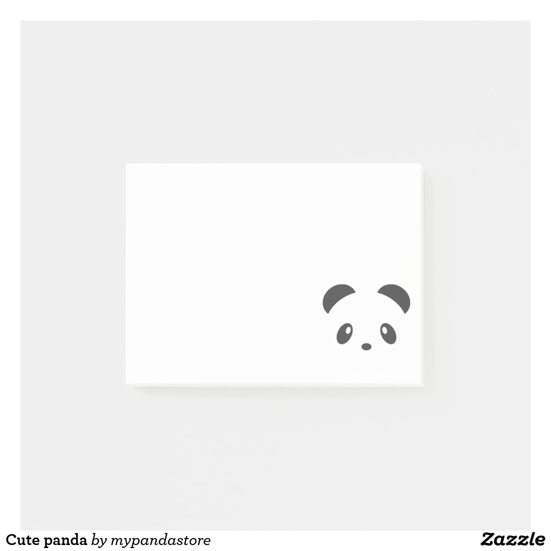 Cute panda post it notes