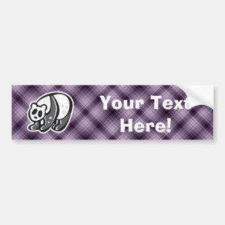 Cute Panda Purple Bumper Stickers