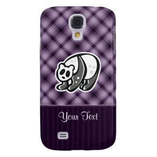 Cute Panda; Purple Galaxy S4 Case