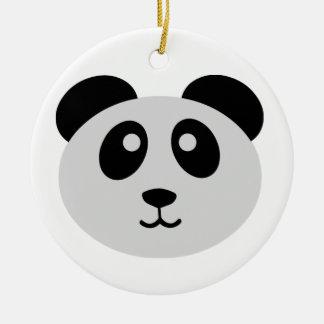 Cute Panda Round Ceramic Decoration