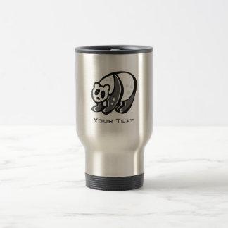 Cute Panda; Silver Travel Mug