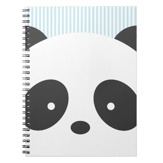 Cute panda spiral notebook