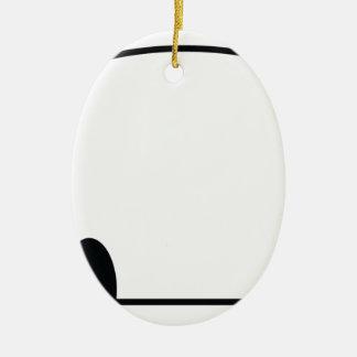 Cute panda spy ceramic oval decoration