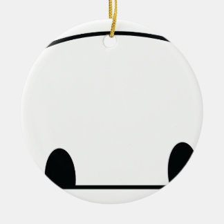 Cute panda spy christmas ornament