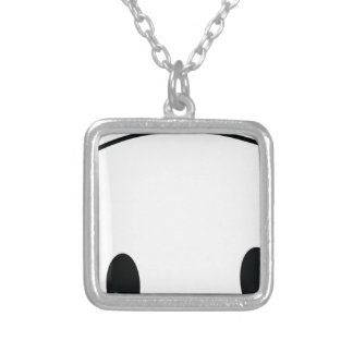 Cute panda spy silver plated necklace