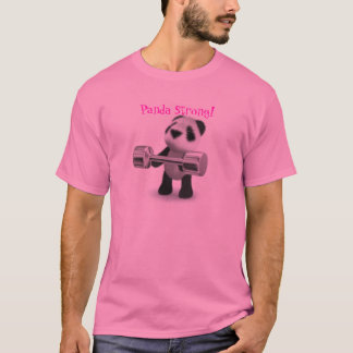 Cute Panda Strong Weightlifter T-Shirt