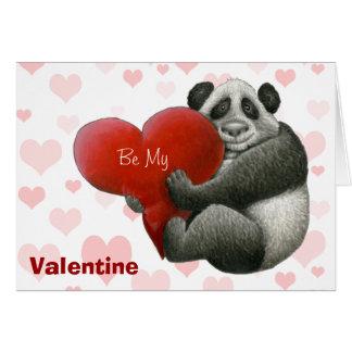 Cute Panda Valentine Card