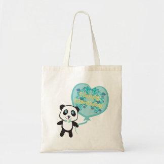 Cute panda with balloon Bag