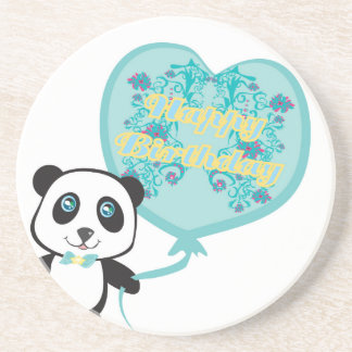 Cute panda with balloon Coaster