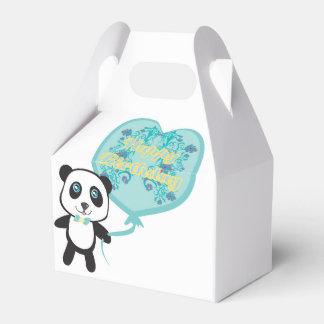 Cute panda with balloon Favour Box