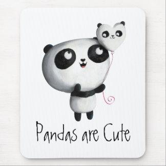 Cute Panda with Balloon Mouse Mat