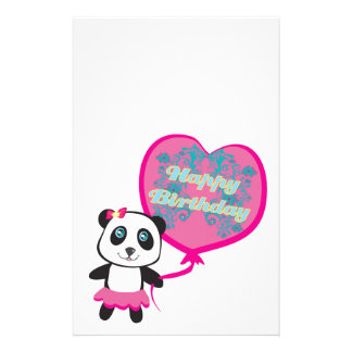 Cute panda with balloon Stationery