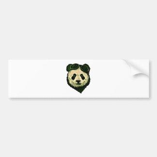 Cute Panda with Glasses Bumper Sticker