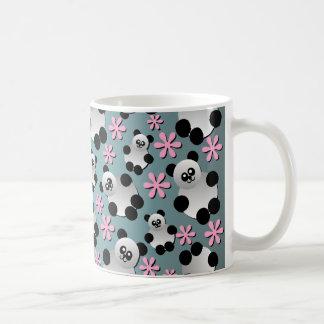 Cute Pandas and Flowers Mug