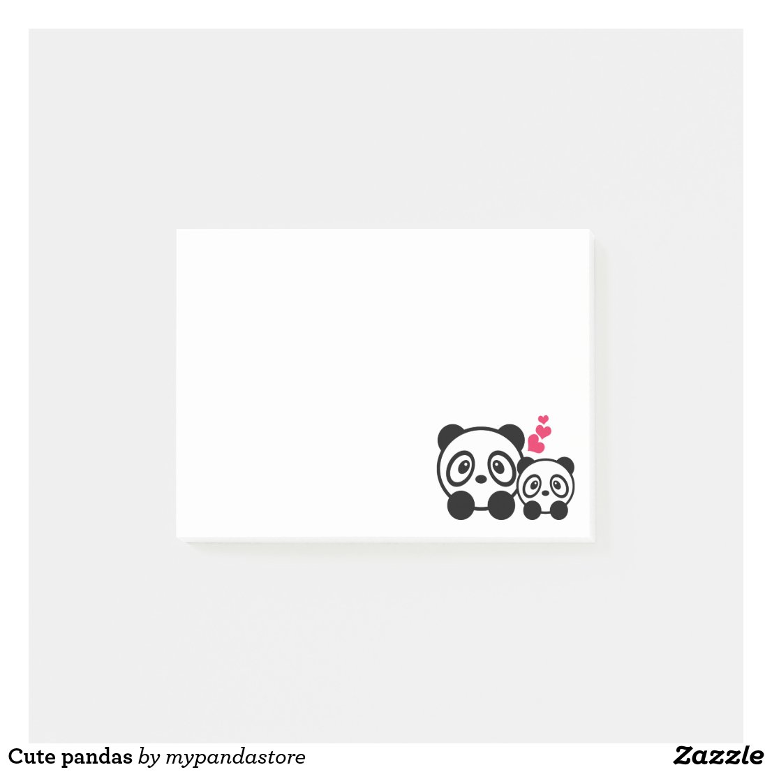 Cute pandas post-it notes
