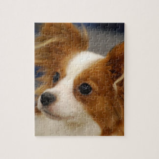 Cute Papillon Dog Jigsaw Puzzle