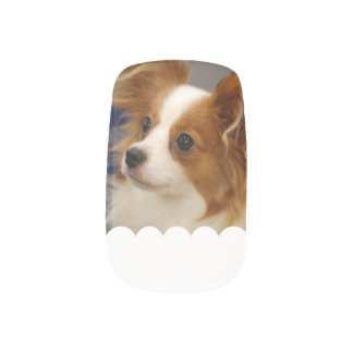 Cute Papillon Dog Minx Nail Art