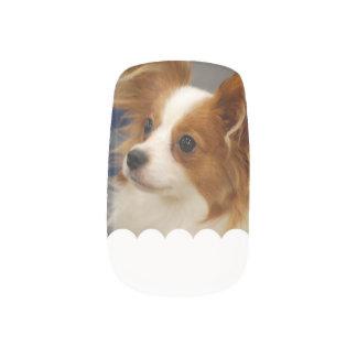 Cute Papillon Dog Minx ® Nail Art