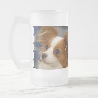 Cute Papillon Dog Coffee Mugs