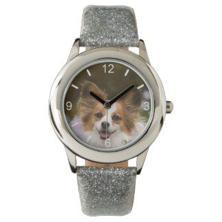 Cute Papillon Spaniel Photo Dog Lovers  dial-plate Watch