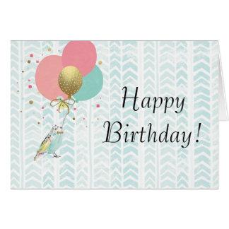 Cute Parakeet Birthday Greeting Card