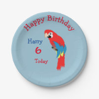 Cute Parrot Pirate Themed Birthday Party