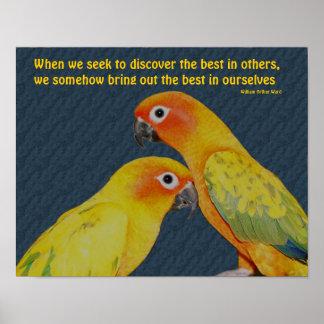 Cute Parrots Attitude Inspirational Poster