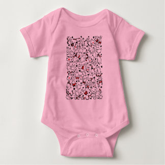 Cute Party Animals Baby Tee