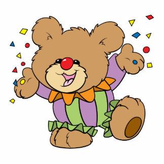 cute party clown teddy bear design photo sculpture