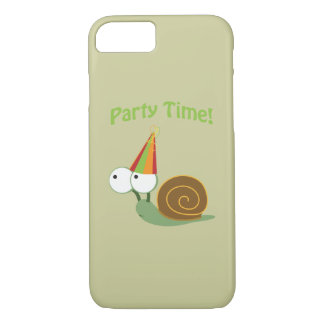 Cute Party Time Snail iPhone 7 Case