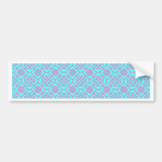 Cute Pastel Aztec Pattern Bumper Sticker