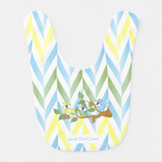 Cute Pastel Blue Squirrel Design Bib
