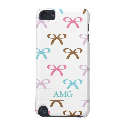 Cute Pastel Bows with Chocolate Accents iPod Touch (5th Generation) Cases