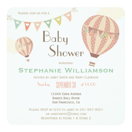 Cute Pastel Bunting & Hot Air Balloons Baby