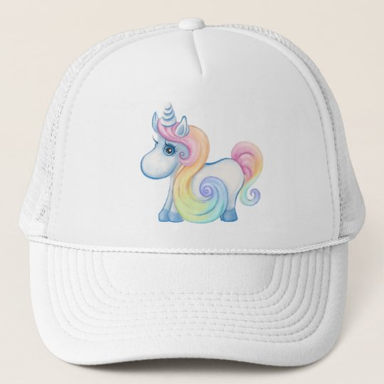 Cute Pastel Colored Unicorn Trucker Hat