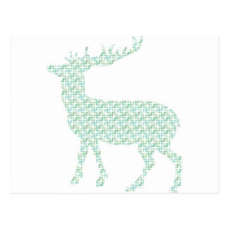 Cute pastel deer postcard