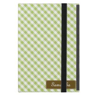 Cute Pastel Green Gingham Pattern iPad Mini Case
