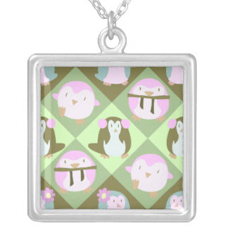 Cute Pastel Green Penguins Jewelry