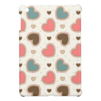 Cute pastel hearts pattern iPad mini cases