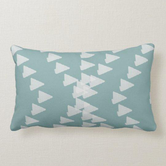 Cute Pastel Mint Abstract Random Arrows Pillow