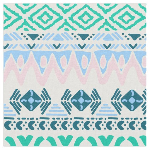 Cute pastel navaho art patterns fabric