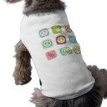 Cute pastel peace symbol pattern dog shirt
