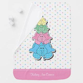 Cute Pastel Pink Baby Elephant Design Pattern Baby Blanket